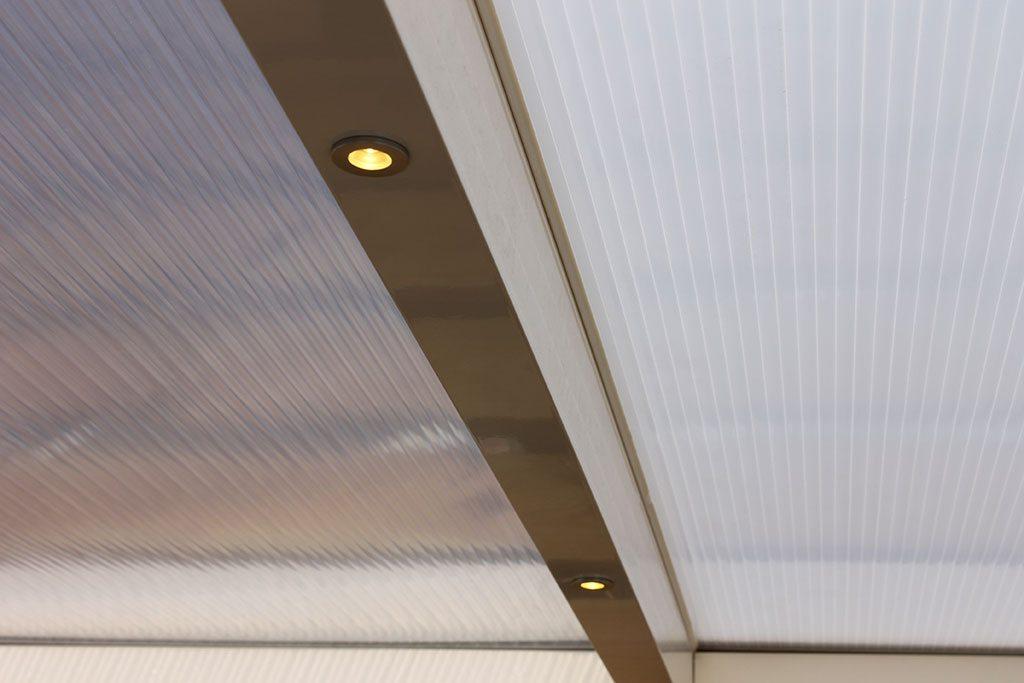 LED spots voor terrasoverkapping